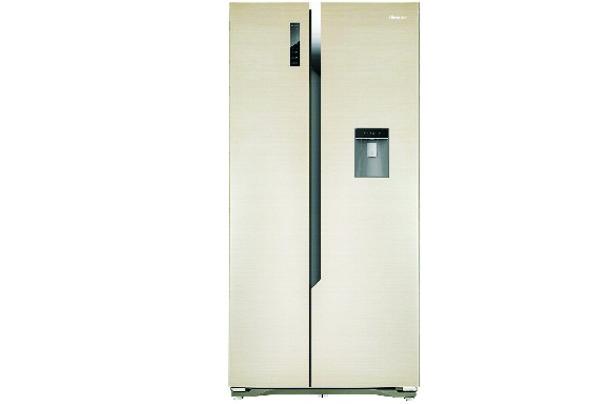 new home furnishers hisense 516lt side by side refrigerator h670sg wd. Black Bedroom Furniture Sets. Home Design Ideas