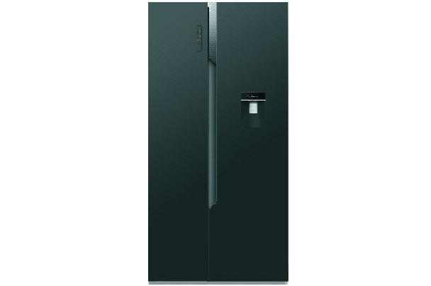 new home furnishers hisense 512lt side by side refrigerator h670smi wd. Black Bedroom Furniture Sets. Home Design Ideas