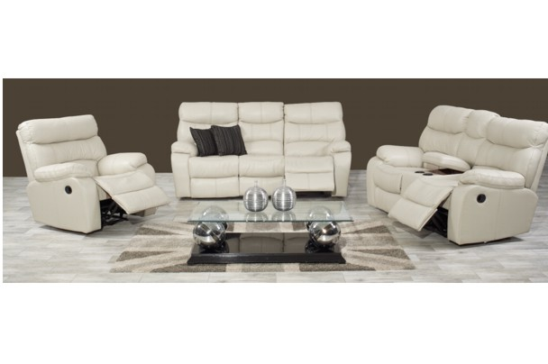 orleans-uppers-leather-recliner-lounge-suite-grafton-everest  sc 1 st  New Home Furnishers & New Home Furnishers » Orleans Recliner Lounge Suite with Console ... islam-shia.org