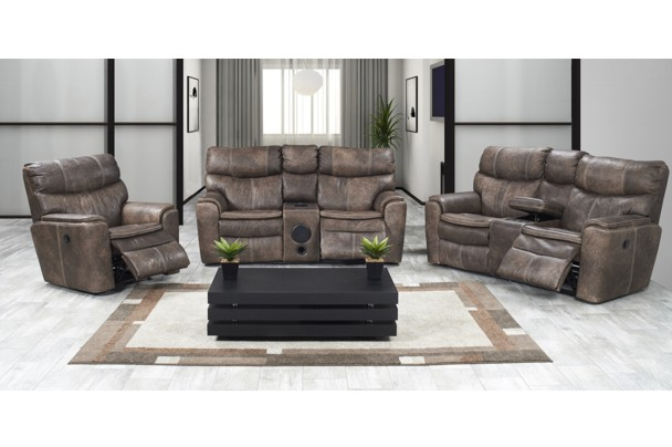 New Home Furnishers 187 Polo Recliner Lounge Suite With