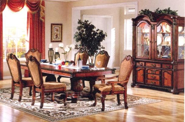 New Home Furnishers Villa Vittoria 11 Piece Dining Room Suite Cherry