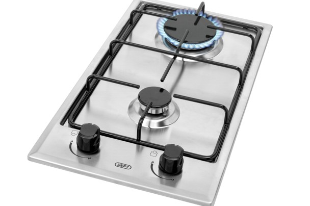 New Home Furnishers 187 Defy 2 Burner Gas Hob Stainless