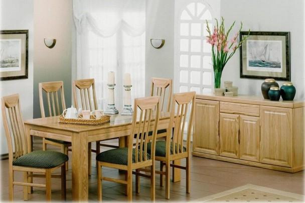 New home furnishers quebec oak dining room suite